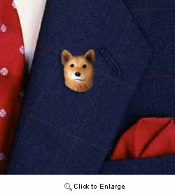 Finnish Spitz Pin Hand Painted Resin