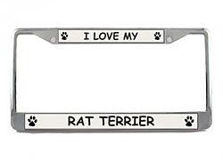 Rat Terrier License Plate Frame