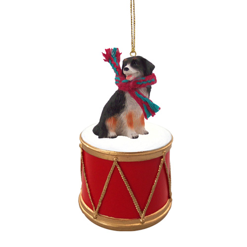 Little Drummer Bernese Mountain Dog Christmas Ornament