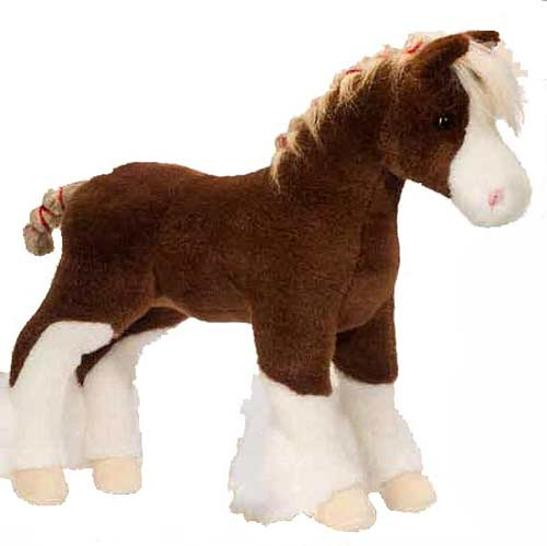 Macclay the Clydesdale Plush Stuffed Animal 15