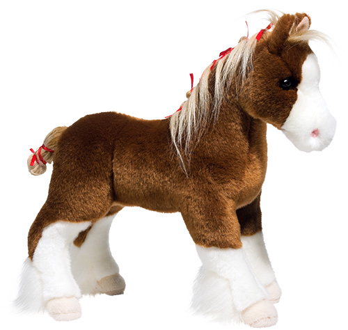 Clydesdale Plush Stuffed Animal