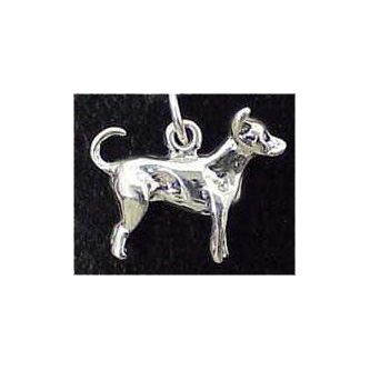 Chihuahua Sterling Silver Charm