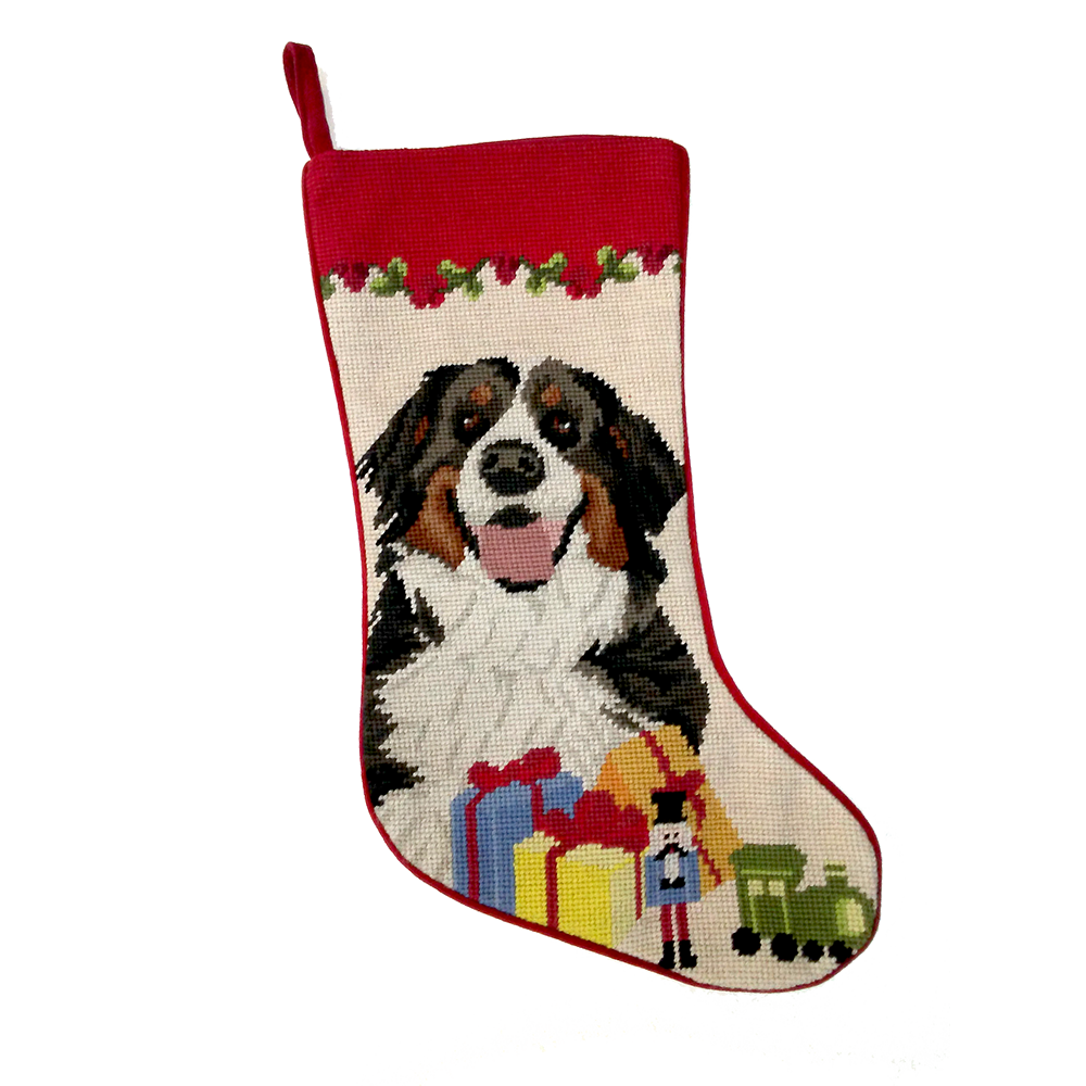 Bernese Mountain Dog Christmas Stocking