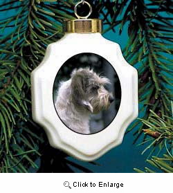 Basset Griffon Vendeen Christmas Ornament Porcelain