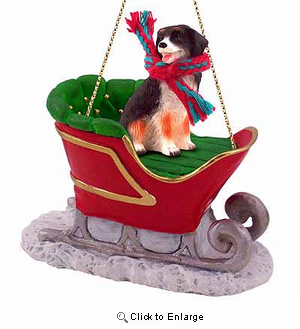 Bernese Mountain Dog Sleigh Ride Christmas Ornament