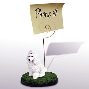 Poodle Note Holder (White)