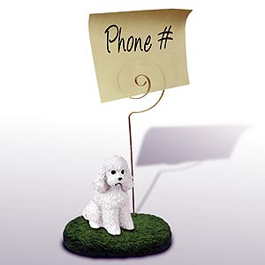 Poodle Note Holder (White Sport cut)