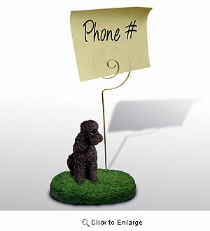Poodle Note Holder (Chocolate Sport cut)
