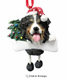 Bernese Mountain Dog Christmas Tree Ornament - Personalize