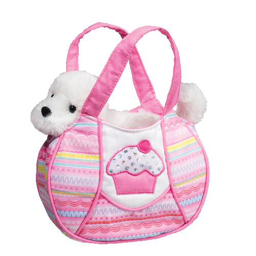 Bichon Frise Tutti Frutti 7� Purse Stuffed Plush Animal