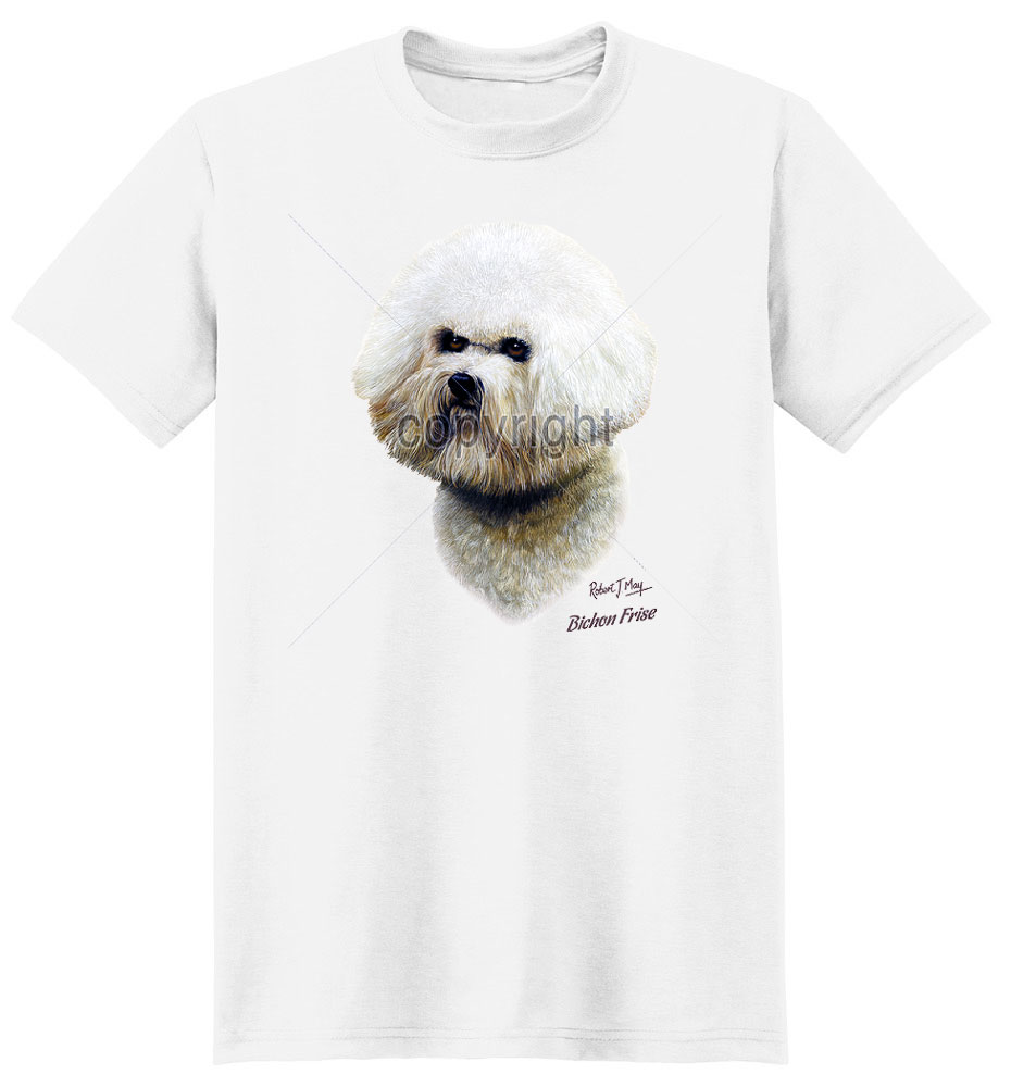Bichon Frise T Shirt by Robert May