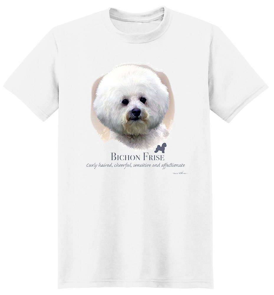 Bichon Frise T Shirt by Howard Robinson