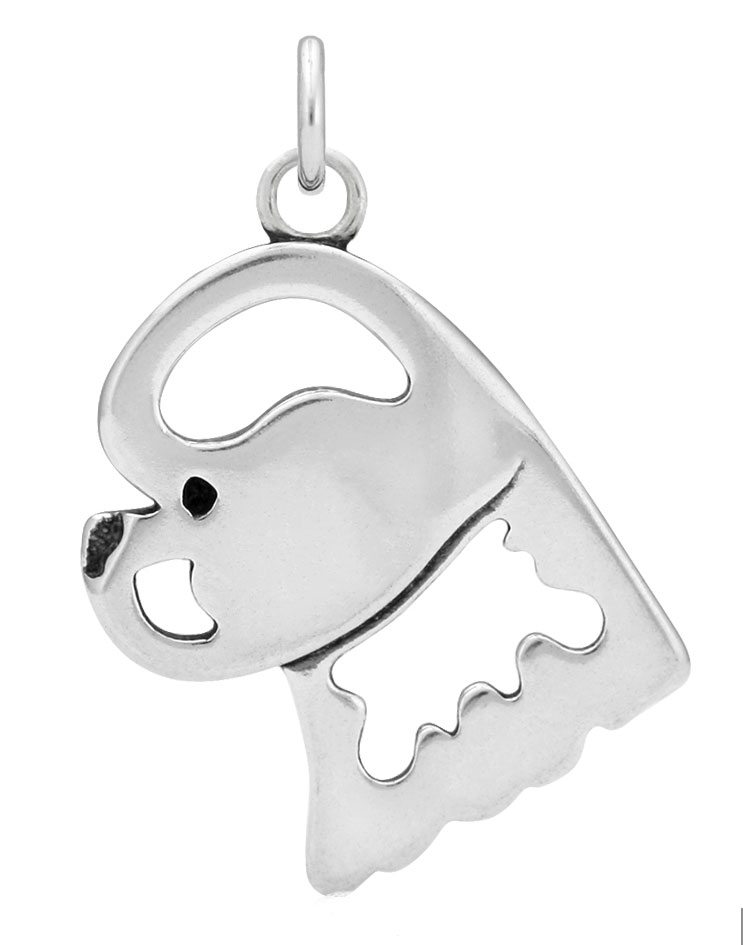 Sterling Silver Bichon Frise Head Necklace