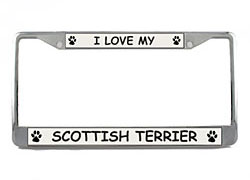 Scottish Terrier License Plate Frame