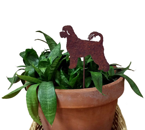 Portuguese Water Dog Plant Stake