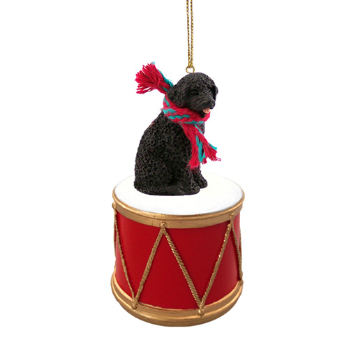 Little Drummer Portuguese Water Dog Christmas Ornament