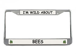 Bee License Plate Frame