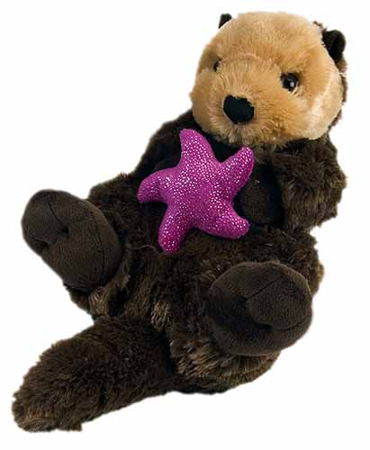 Sea Otter With Starfish Plush Stuffed Animal 15