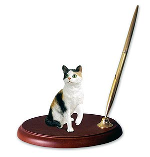Calico Cat Pen Holder