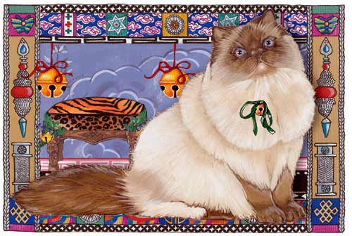Himalayan Cat Christmas Cards