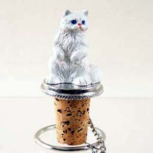 Persian Cat Bottle Stopper