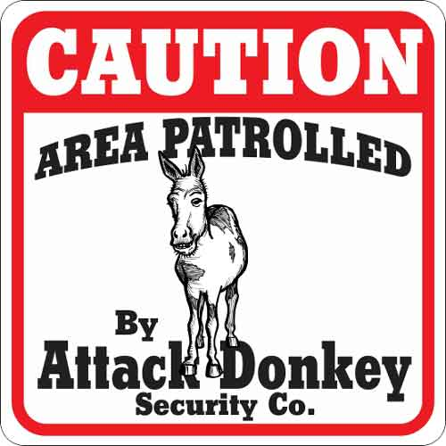 Attack Donkey Sign