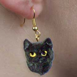 Black Cat Authentic Earrings
