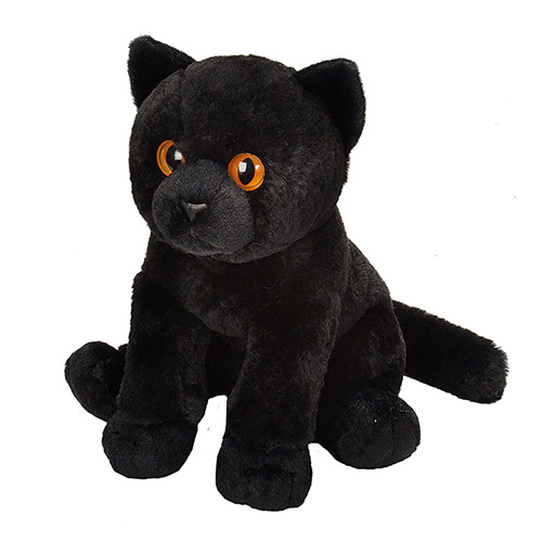 Black Cat Cuddlekins Plush Animal 12