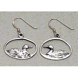 Loon Earrings Sterling Silver