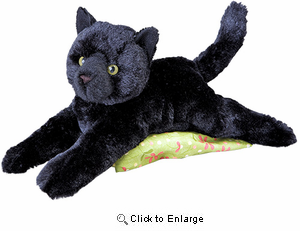 "Black Cat Plush Stuffed Animal ""Tug"" 14"""