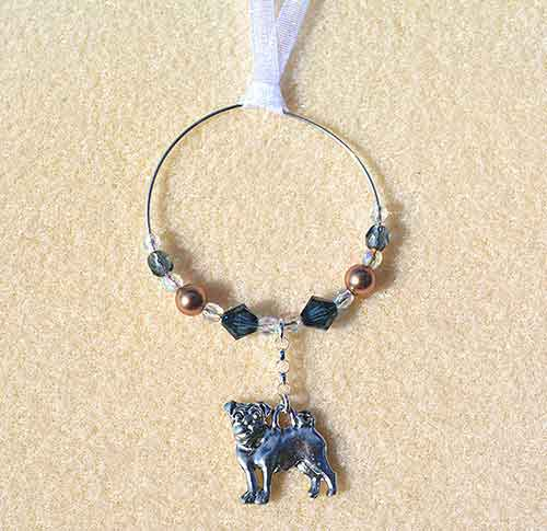 Pug Car Charm - Sun Catcher