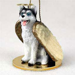 Siberian Husky Christmas Ornament Angel