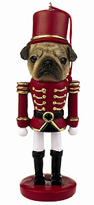 Pug Ornament Nutcracker