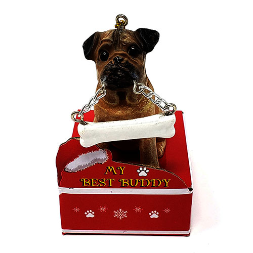 My Best Buddy Pug Christmas Ornament