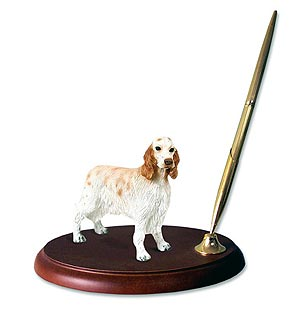 English Setter Pen Holder (Orange Belton)