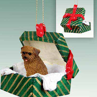 Norfolk Terrier Gift Box Christmas Ornament