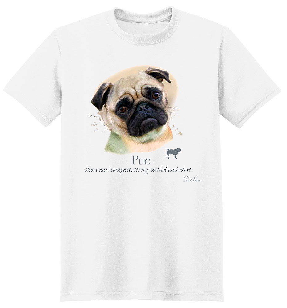 Pug T Shirt by Howard Robinson