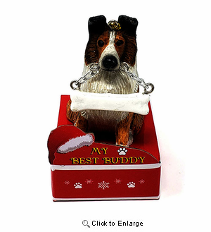 My Best Buddy Sheltie Christmas Ornament