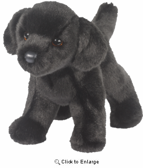 "Black Labrador 10"" Stuffed Plush Animal"