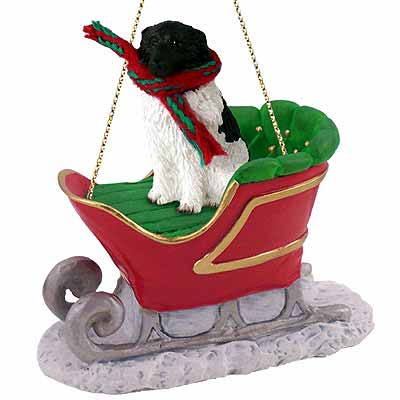 Newfoundland Sleigh Ride Christmas Ornament Landseer