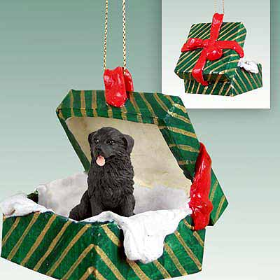 Newfoundland Gift Box Christmas Ornament