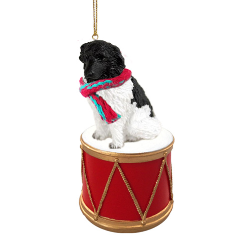 Little Drummer Newfoundland Landseer Christmas Ornament
