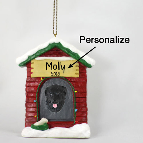 Newfoundland Personalized Dog House Christmas Ornament