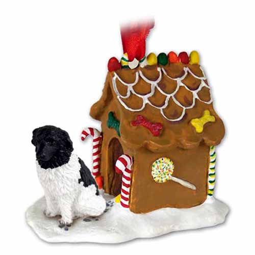 Newfoundland Gingerbread House Christmas Ornament Landseer