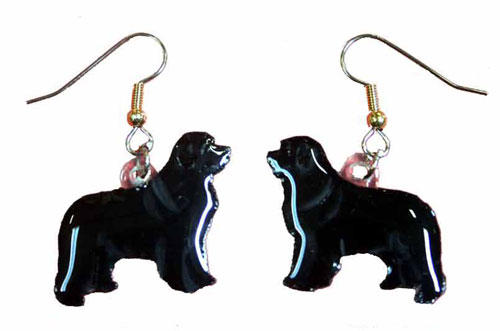 Newfoundland Earrings Hand Painted Acrylic