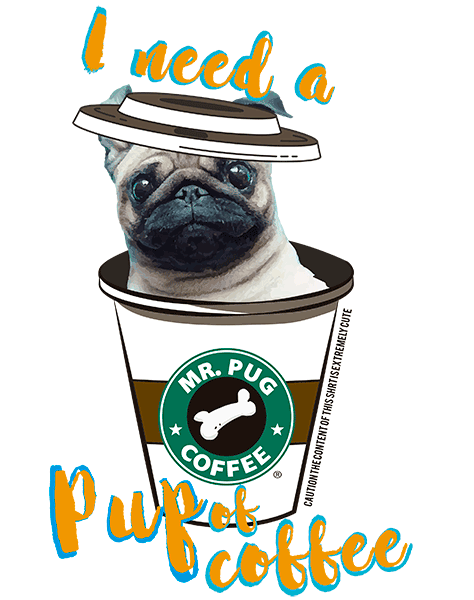 Pug T Shirt - Coffee Mug