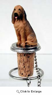Bloodhound Bottle Stopper