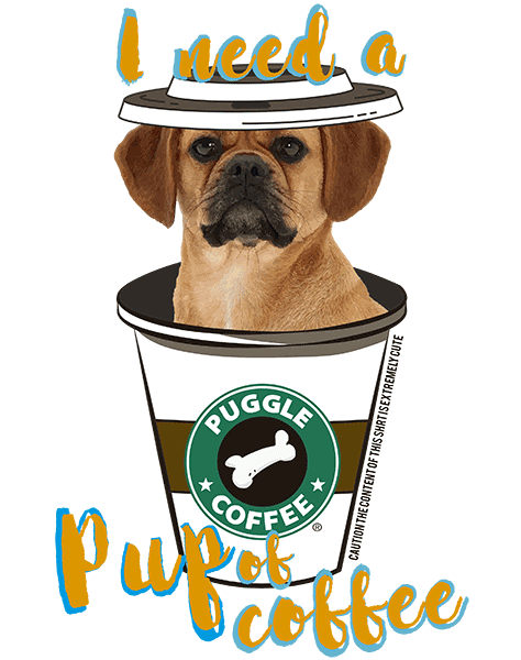 Puggle T Shirt - Coffee Mug