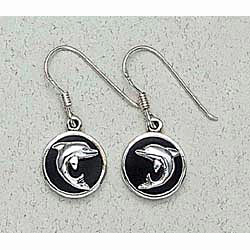 Dolphin Earrings Sterling Silver