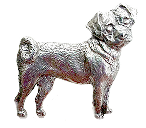 Puggle Pewter Pin